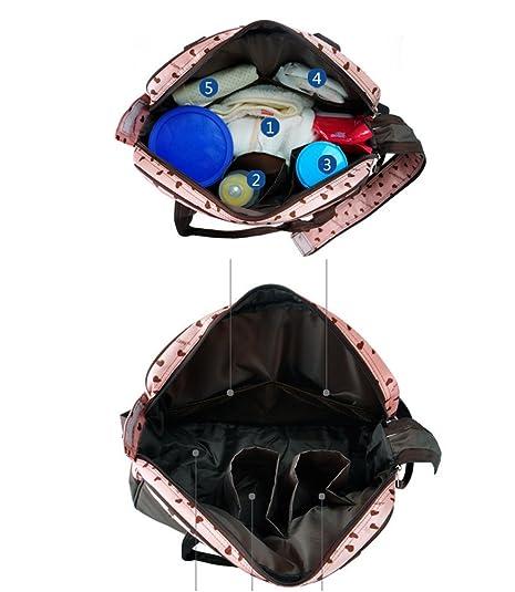 c31e9495c6 Anguang Zaino per Cambio Pannolino con Tasche Cinghie per Passeggino e  Fasciatoio Beige: Amazon.it: Scarpe e borse