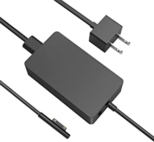 Surface Book Charger, AYNEFF 15V 4A 65W Surface Pro 7 Power Supply Compatible with Microsoft Surface Book Surface Laptop Surface Pro 7 Pro 6 Pro 4 Pro X, Surface Go, 5.9ft DC Cable with USB 5V 1A