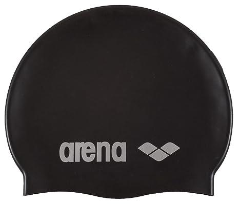 a0152c2b41e4 Arena Classic Silicone Cuffia, Unisex, Nero (Black-Silver), Taglia Unica