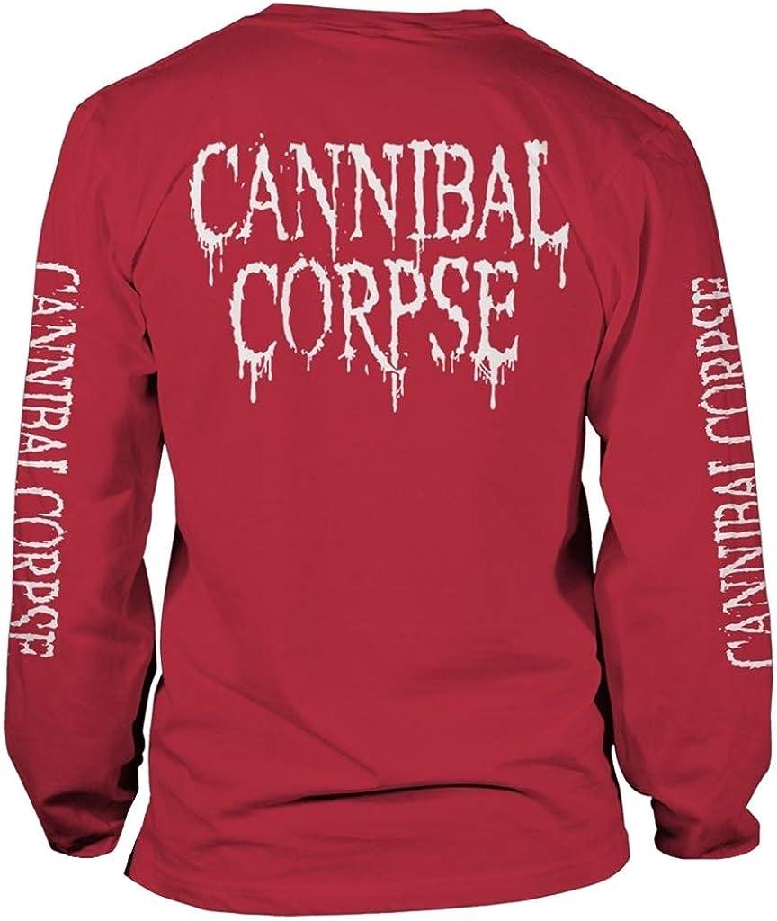 Camisa de Manga Larga Cannibal Corpse Pile of Skulls 2018 Rojo