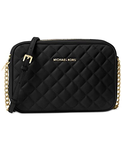 a14c7132172f Image Unavailable. Image not available for. Color  Michael Kors Jet Set  Travel Large East West Quilted Crossbody Leather ...