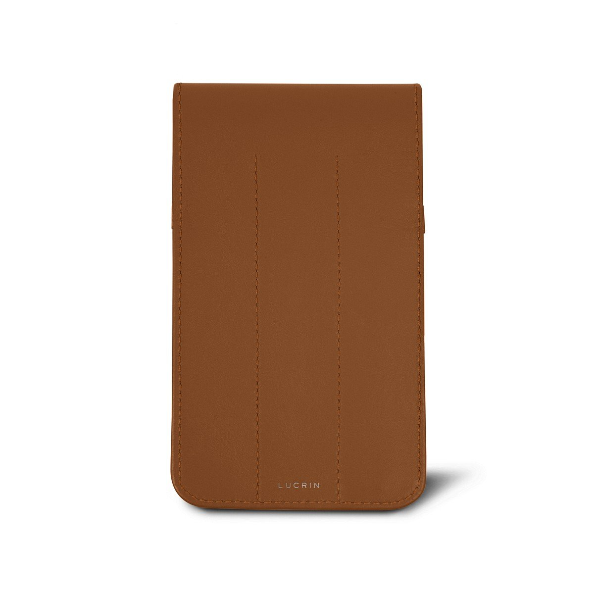 Case for 3 pens Smooth Leather Lucrin Tan