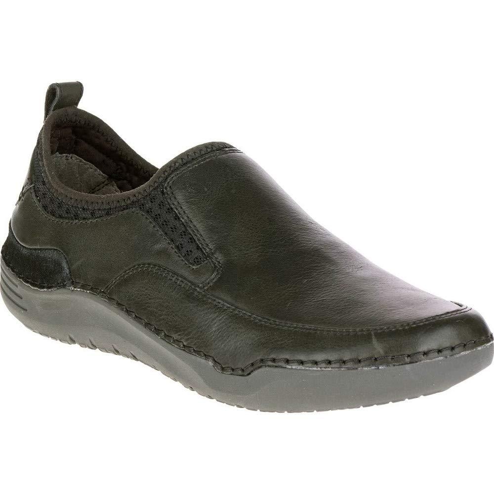 Hush Puppies Men's Crofton Method Slip-On Loafer, Black Leather, 9.5 M US
