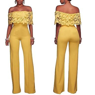 74c64a90f10b Amazon.com  Sindy Queen Women s Elegant Sexy Lace Off Shoulder ...