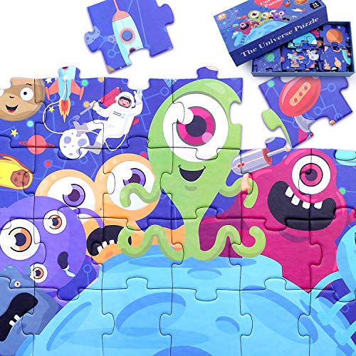 (iPlay, iLearn 75pcs Kids Jigsaw Puzzles, The Universe N Planet Jumbo Floor Puzzles, Educational Learning Space Toys, Birthday Gift for 2, 3, 4, 5, 6, 7, 8 Year Olds Boys Girls Toddlers Children)