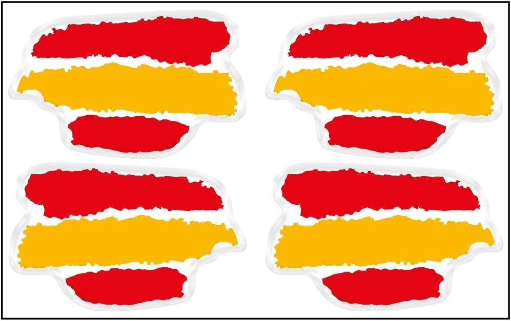 Artimagen Pegatina Bandera Trazos 4 uds. España Resina 33x21 mm/ud ...