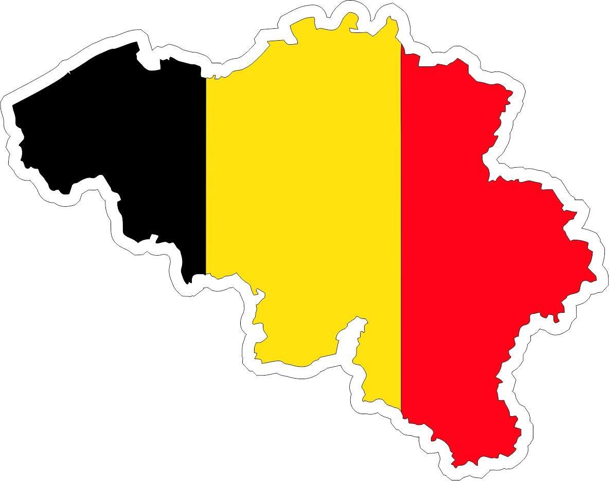 Autocollant sticker adhesif voiture vinyle drapeau carte belgique belge