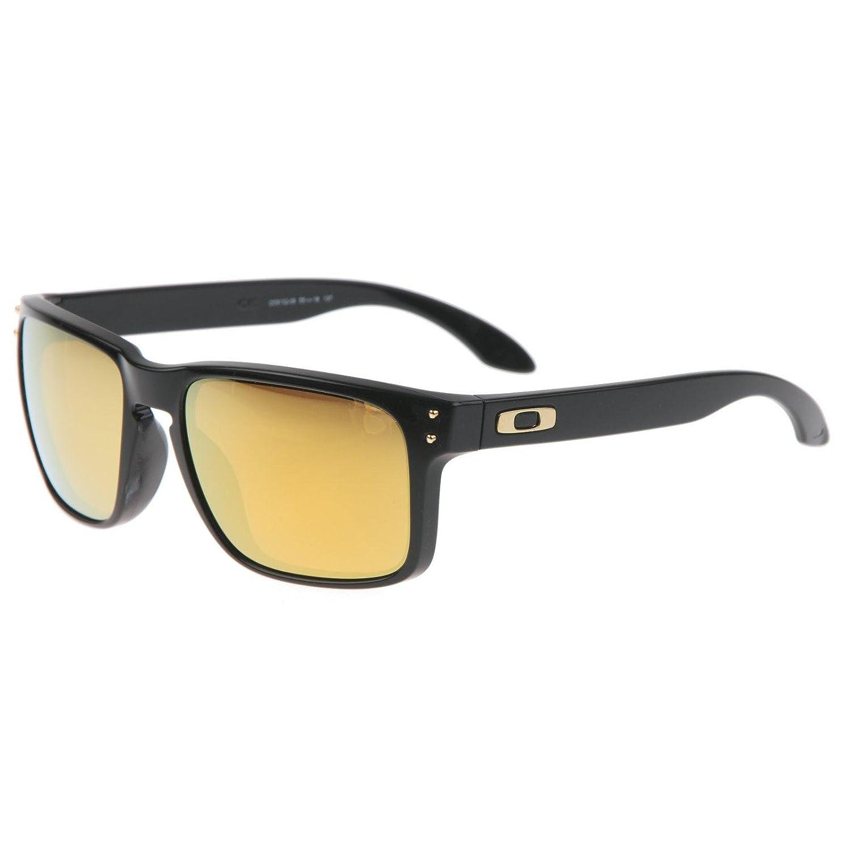 Sonnenbrille Oakley Holbrook 9102-08 polished black / 24k gold ...
