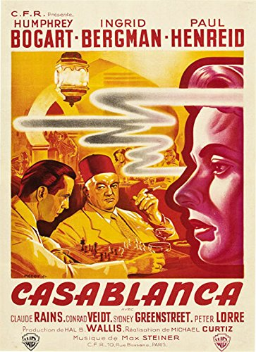 Casablanca (France) Movie Poster Fridge Magnet (2.5 x 3.5 inches)