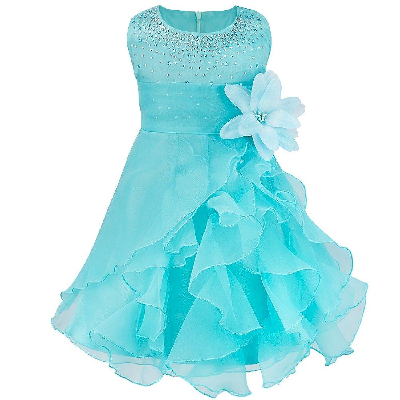 Amazon.com: FEESHOW Baby Girls Rhinestone Princess Wedding Pageant ...
