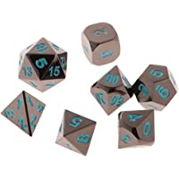 MagiDeal Board Game Set of 7 Polyhedral Dice D4-D20 Die for MTG RPG D&D DND Gaming Blue