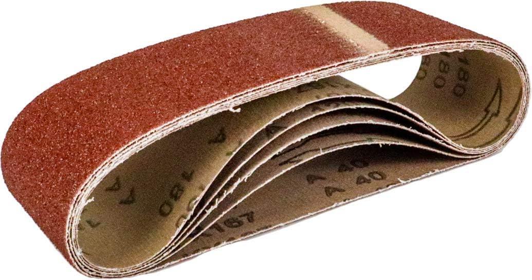 180 // misti // nastri abrasivi 120 80 per levigatrice a nastro//nastro abrasivo 60 10 pezzi // 75 x 533 mm // 2 x grana 40