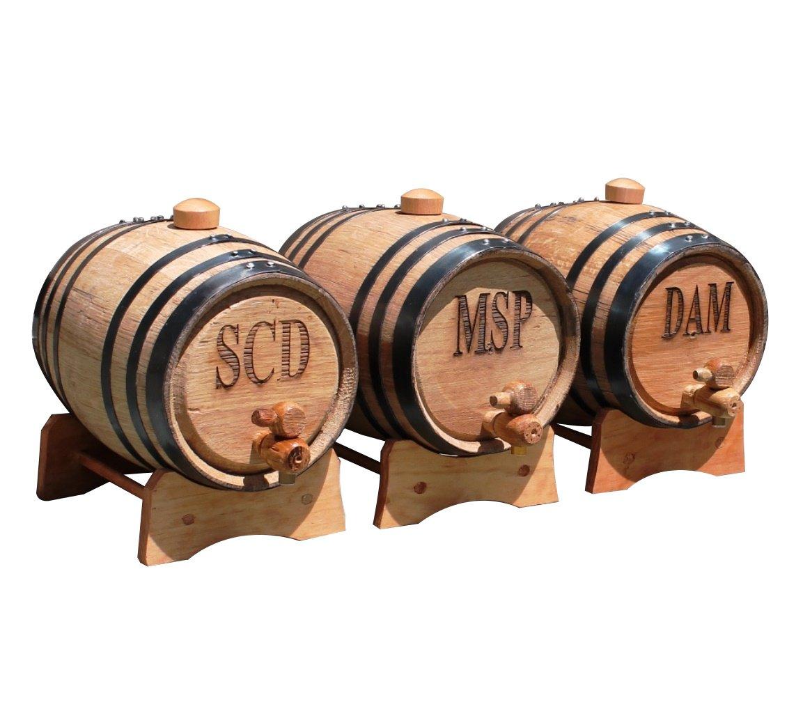 Personalized 1 Liter Oak Whiskey Barrel