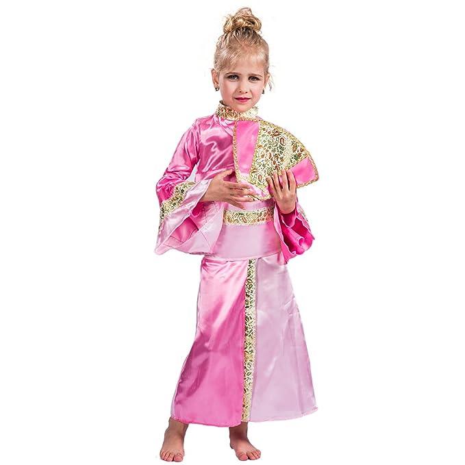 EraSpooky Vestido Largo de Princesa Elegante para Niña(Rosa Oscuro, Small)