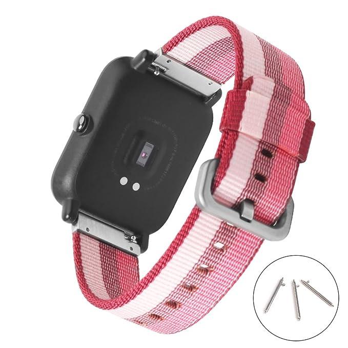 Amazon.com: 20 mm. nailon reloj banda Sikai Universal de ...