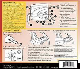 EPAuto 12V DC Auto Portable Air Compressor Pump w/ Digital Tire Inflator 100 PSI and Preset Pressure Shut Off Gauge for Compact / Midsize Sedan SUV