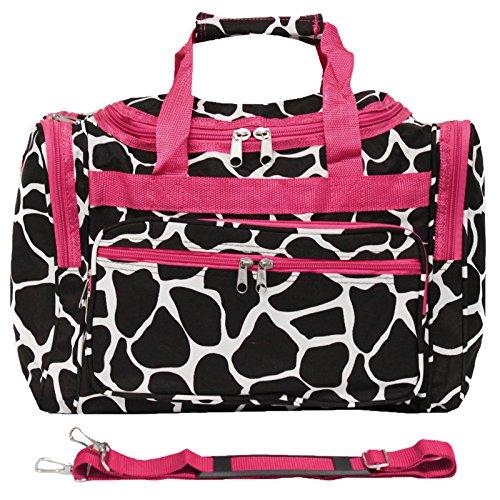 - World Traveler 81T16-603BR-F  Duffle Bag, One Size, Fuchsia Trim Giraffe