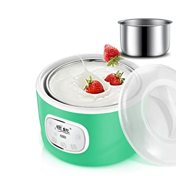 MNII Fabricante de yogur digital fabricante de yogur puro | 1L Revestimiento de acero inoxidable |