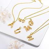 Bamboo Initial Choker Collar Necklace,18k Gold