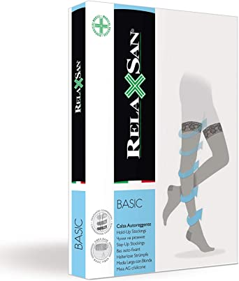 compresi/ón graduada 22-27 mmHg sin silicona Relaxsan Basic 960 Medias el/ásticas 280 den