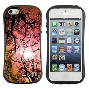 Suave TPU GEL Carcasa Funda Silicona Blando Estuche Caso de protección (para) Apple Iphone 5 / 5S / CECELL Phone case / / Hallucinogen Lsd Trees Forest Sun Pink /
