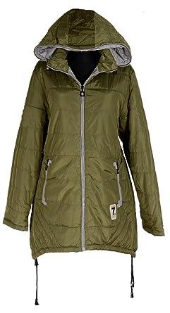 Damen Gefüttert Wintermantel Steppjacke Parka Trench Kapuze Übergang Coat Jacken
