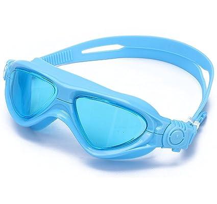 Gafas de Natación para Niños Marco Grande Cómodo Antiniebla Estanco Máscara de Natación para Niño,