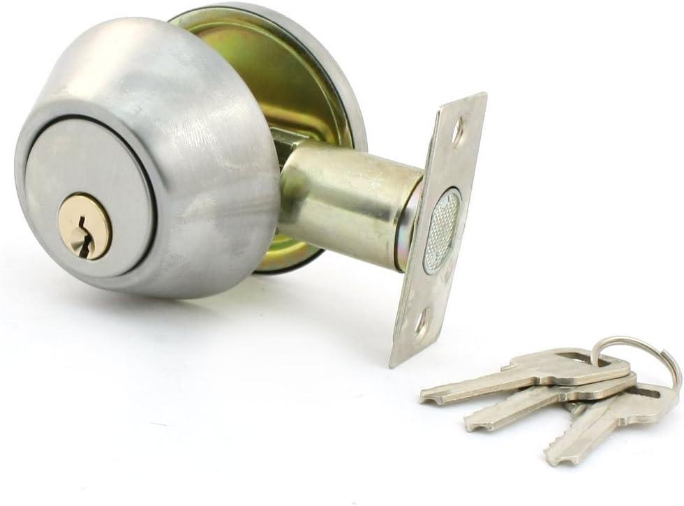 Sourcingmap House Bedroom Metal Round Knob Security Door Gate Lock Set W Keys Amazon Co Uk Diy Tools