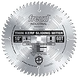"Freud 10"" X 60t Thin Kerf Sliding Compound Miter Saw Blade (Lu91m010)"