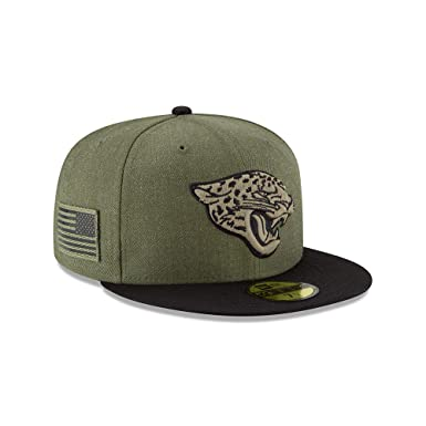 e3e92664f0c New Era Jacksonville Jaguars On Field 18 Salute to Service Cap 59fifty 5950  Fitted Limited Edition  Amazon.co.uk  Clothing