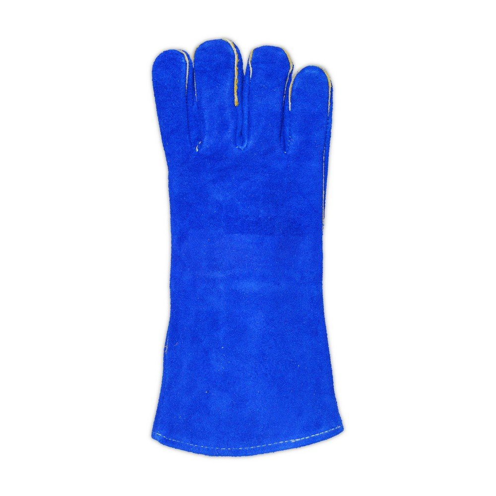 12 Pair Blue Standard Magid M1018 WeldPro Shoulder Split Cow Leather Welding Gloves