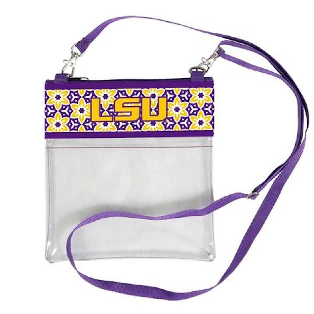 Desden LSU Tigers Clear Gameday Crossbody Bag