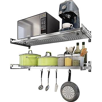 Besteckkasten 304 Edelstahl Mikrowelle Wandhalterung Küche Regal ...