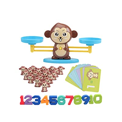 Balance Game Scale Early Learning Weight Child Kids Intelligence Toys XUANOU Intelligence Test Puzzle Play,Balance Toy Digital Addition and Subtraction Game (Brown Monkey): Toys & Games