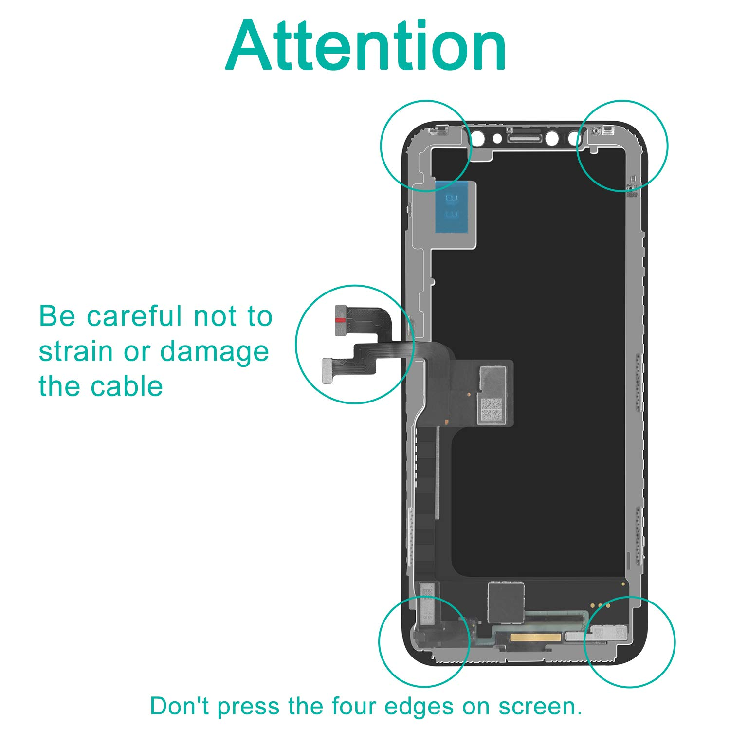 Display 3D Touch Digitizer Frame Assembly Full Repair Kit NOT LCD YPLANG Screen Replacement Compatible for iPhone X Screen Replacement Black OLED with Repair Tools
