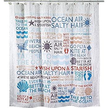 Amazoncom Avanti Linens HMUL Lake Words Shower Curtain - Shower curtain with words