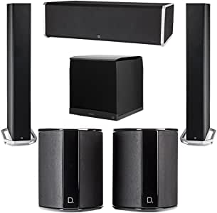 Definitive Technology 5.1 System with 2 BP9060 Tower Speakers, 1 CS9080 Center Channel Speaker, 2 SR9040 Surround Speaker, 1 Definitive Technology SuperCube 8000 Powered Subwoofer