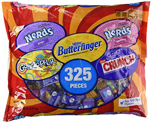Nestle Assorted Chocolate/Sugar Candy (96 oz., 325 ct.) (Nestle Free Chocolate Gluten)
