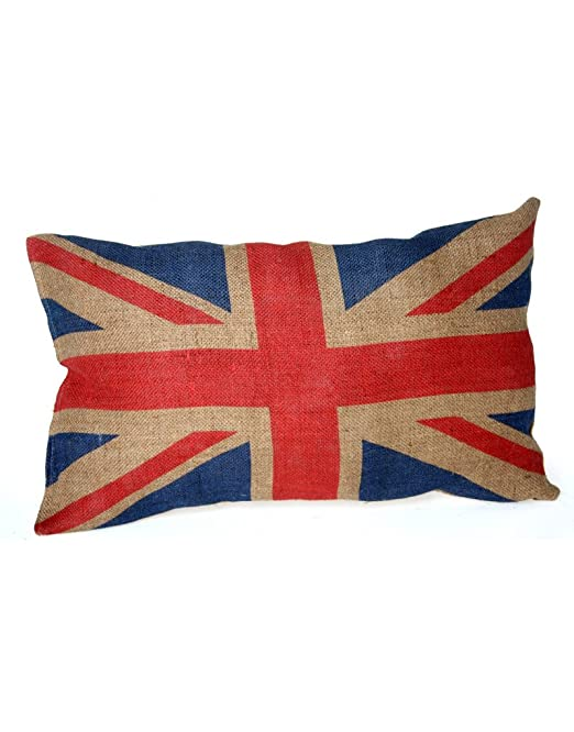 Home Line Cojín Arpillera Union Jack: Amazon.es: Hogar