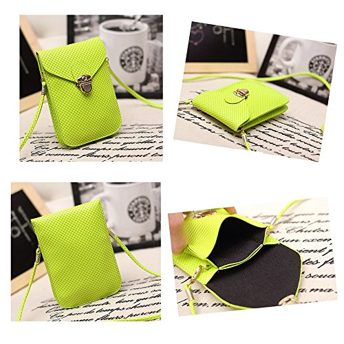 PU Pouch Leather Red Shoulder Crossbody Mini Cellphone Bright Embossed Peiji Surface Rose Square Single Bag EqfxZgf7w