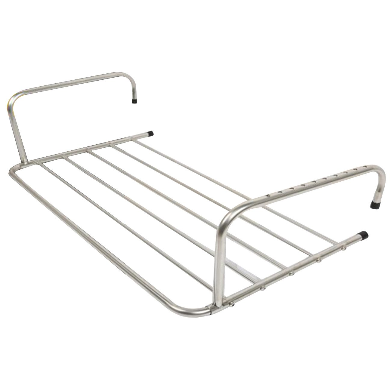 THEE Foldable Laundry Drying Rack Shoes Clothes Airer Towel Hanger for Balcony Window
