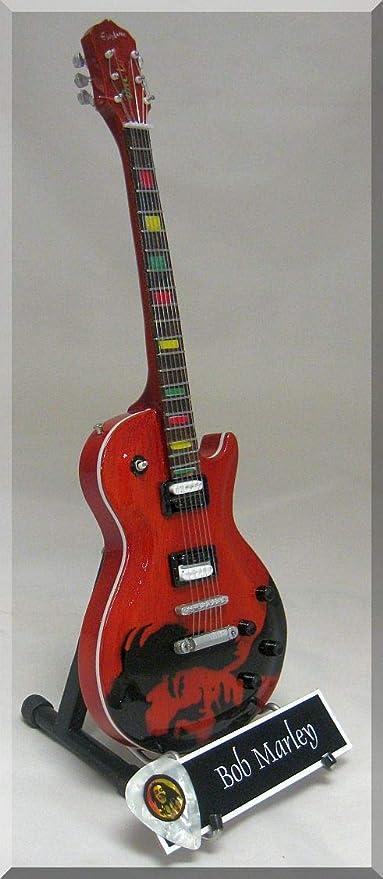 BOB MARLEY - Guitarra en miniatura (etiqueta con el nombre ...