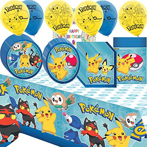 Pokemon Core Birthday Supplies Party Pack Bundle