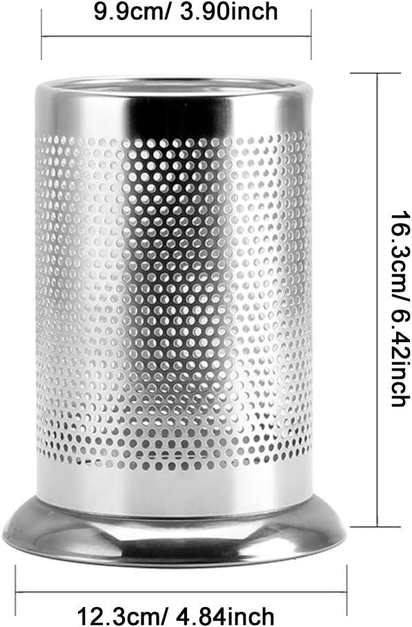 Gosear Utensilio de Cocina de Acero Inoxidable Palillos Perforados Titular Cocina cuberter/ía vajilla Jaula Organizador Caddy