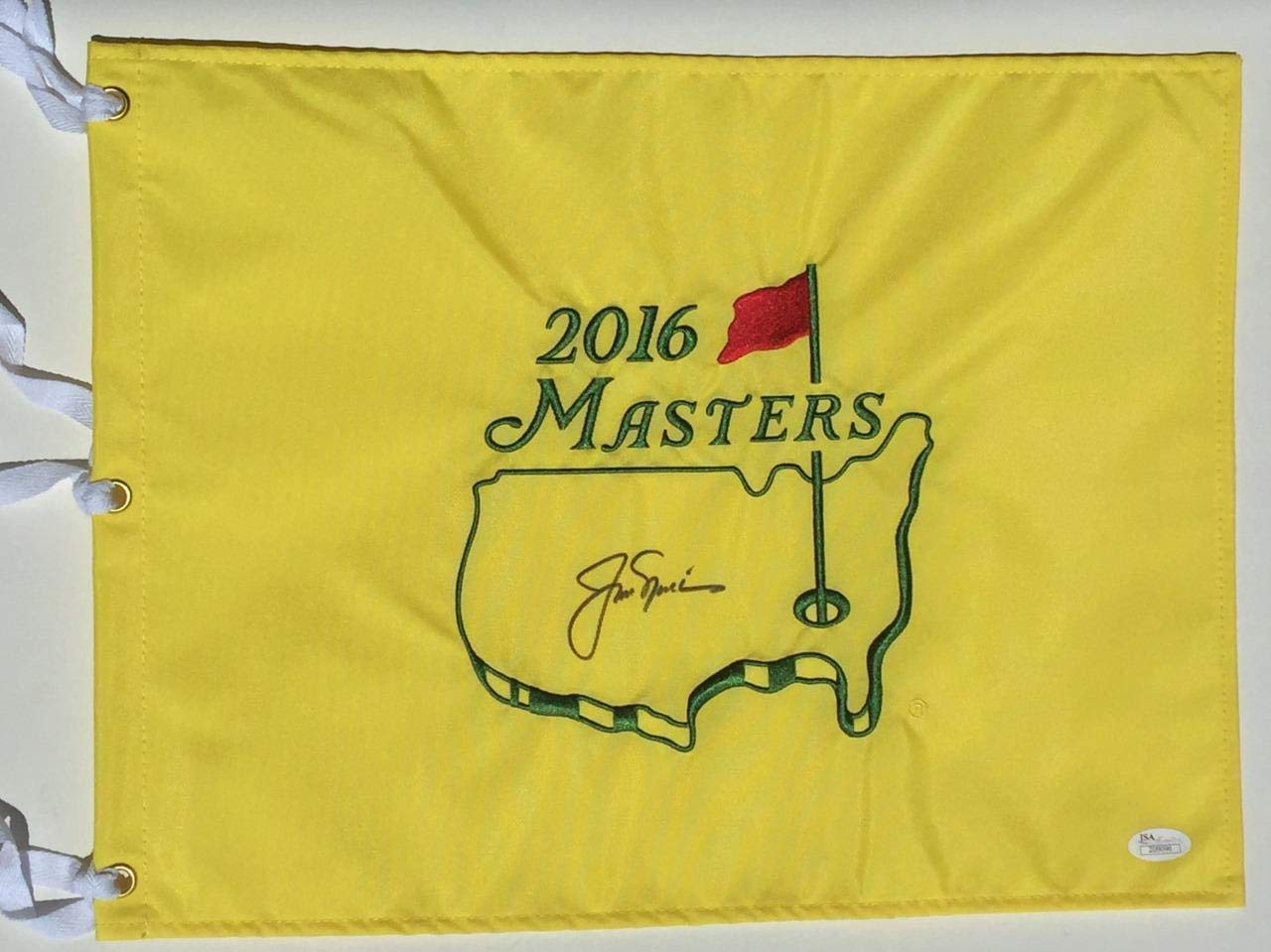 Jack Nicklaus A 10 Autograph Dead Center Signed 2016 Masters Flag Z09094 JSA Certified Autographed Pin Flags