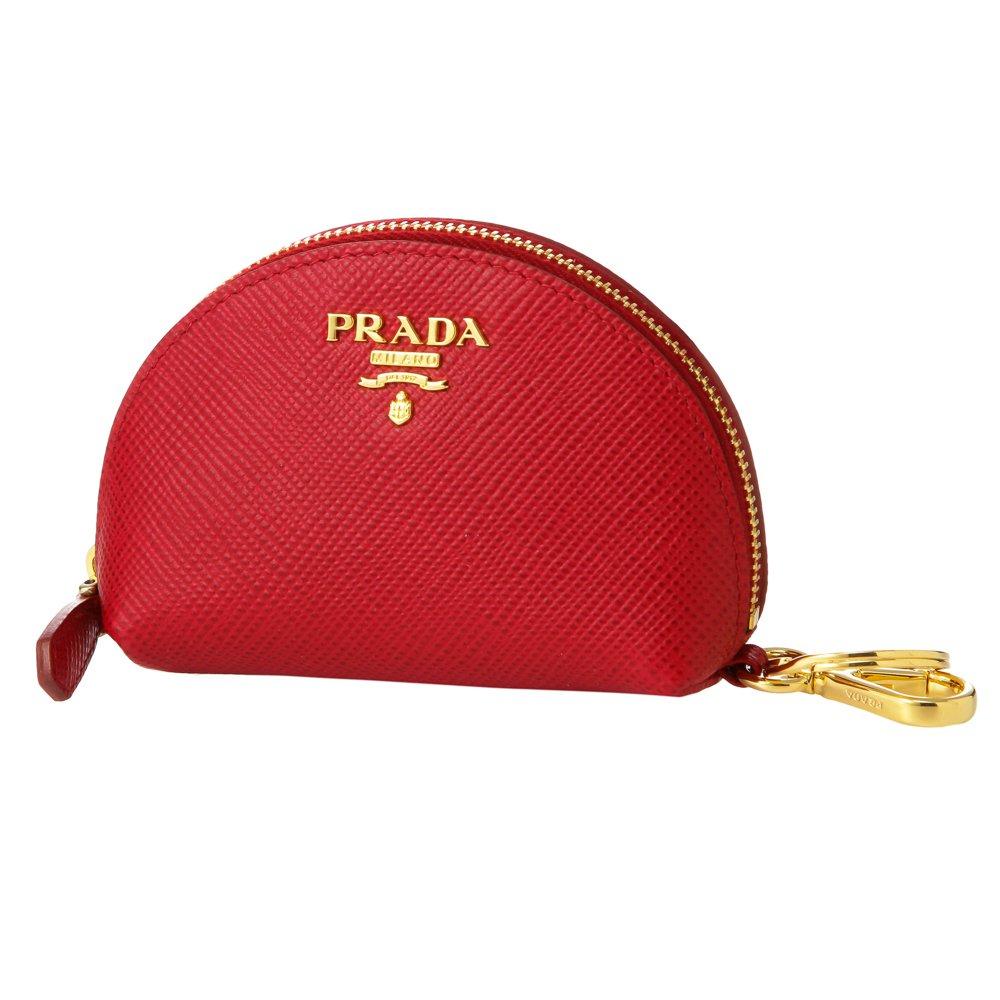 プラダ(PRADA) コインケース 1MM218 2A4A F068Z サフィアーノキュイール レッド 赤 [並行輸入品] B07254TGNC
