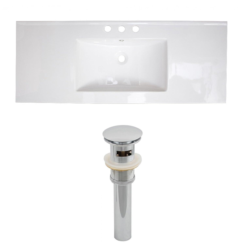 "Jade Bath JB-15559 40"" W x 18"" D Ceramic Top Set and Drain, White durable modeling"