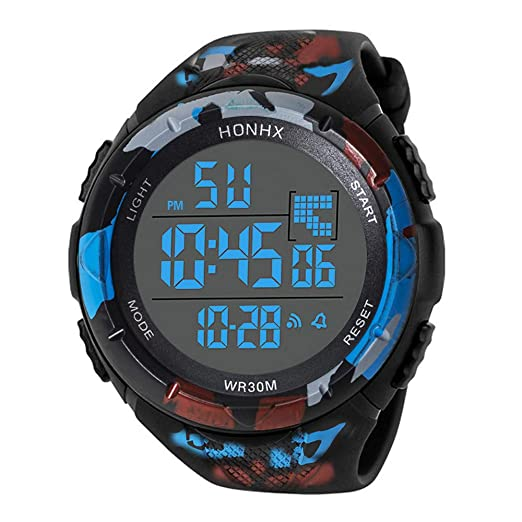 Digital Watches for Men DYTA 5ATM Water Resistant Outdoor Wrist Watches LED Sport Watch on Military