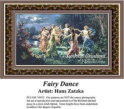 Art Print of Vintage Art Fairy Play by Hans Zatzka