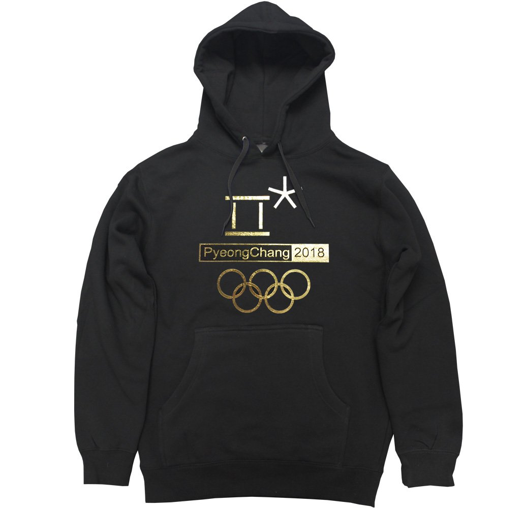 FTD Apparel Men's Pyeongchang 2018 Gold Pullover Hooded Sweater GOLDPYEONGCHANG2018-HD-parent